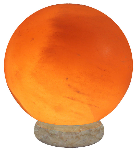 Indusclassic® LGM-03 Globe Himalayan Crystal Rock Salt Lamp Ionizer Air Purifier With Marble Base And Dimmable Control