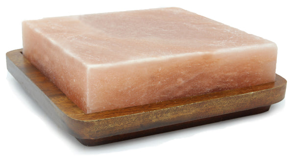 IndusClassic® SSP-06 Himalayan Salt Block, Plate, Slab for Seasoning, And Serving (8 X 8 X 2)