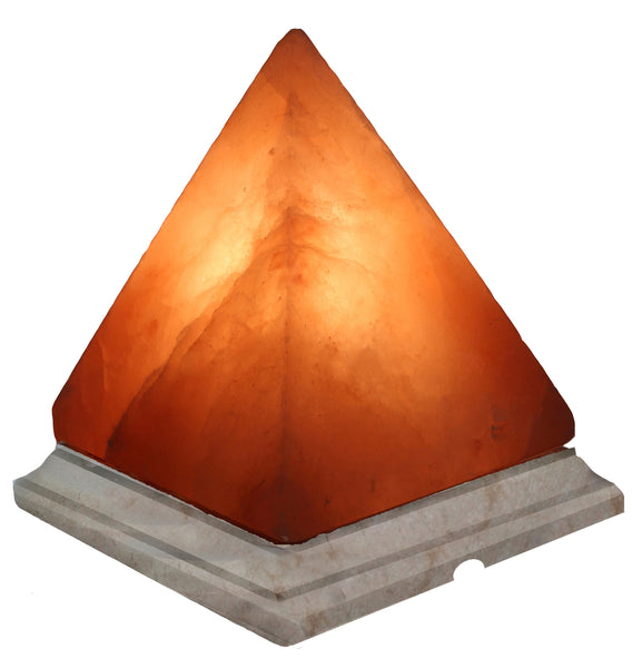 Indusclassic® LGM-01 Pyramid Himalayan Crystal Rock Salt Lamp Ionizer Air Purifier With Marble Base And Dimmable Control