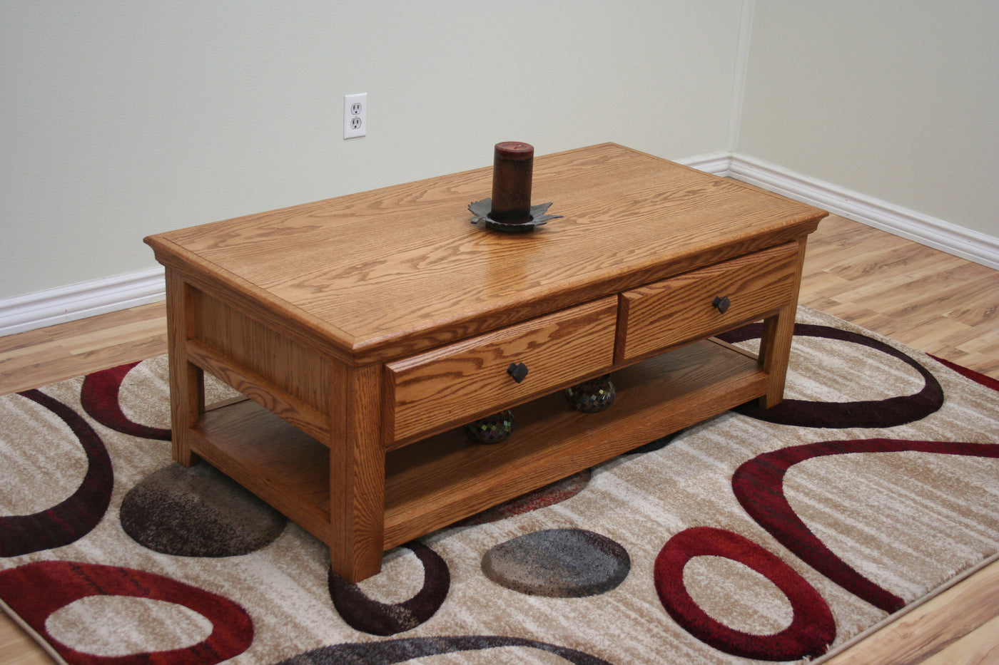 Oak coffee table transitional style jdi home Vogue coffee table