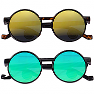 Mirror Tinted Round Shape Unisex Sunglasses