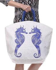 Jute Beach Tote - Sea Life (Multiple Designs)