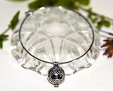 Aromatherapy Jewellery AJ2 TREE OF LIFE expandable bracelet with Lava Stone Bead