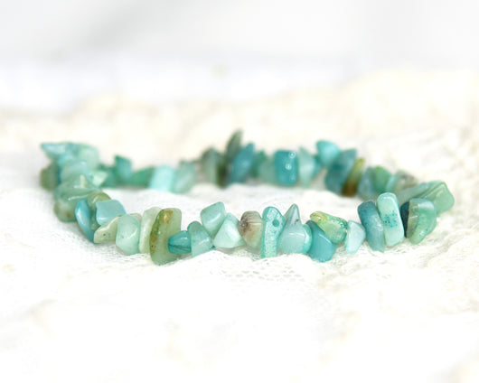 Crystal Chip Bracelet AMAZONITE