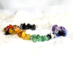 Crystal Chip Bracelet CHAKRA Colours
