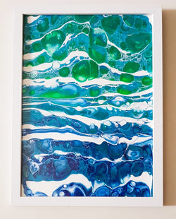 Original framed Artwork by KazArt Creations - Summer Seas