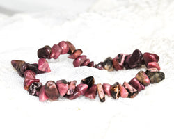 Crystal Chip Bracelet RHODONITE