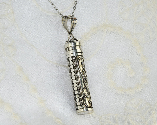 Silver Cylinder Pendant - #S2015