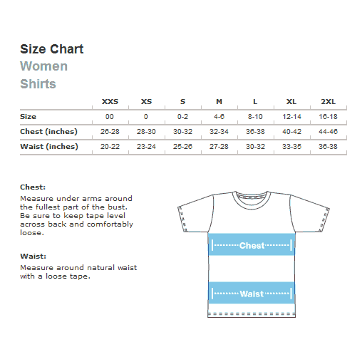 American Apparel Women's Sizing Chart