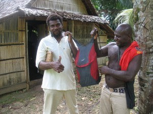 The Bindle Pack being admired in Papua New Guniea