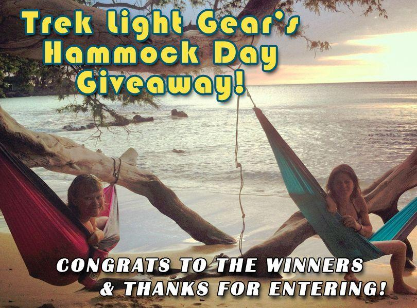 Congrats to the Hammock Day Winners!