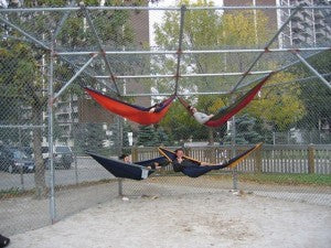 Another day at the Ball Park - Extreme Hammocks