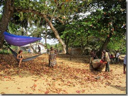 Peace Corps Gear Hammock In Cameroon