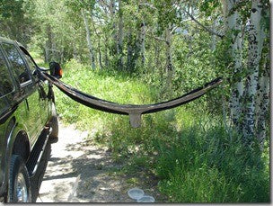 Hanging A Hammock From Your Car