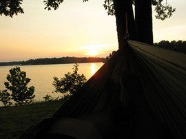 Sunset on the lake in my Trek Light hammock
