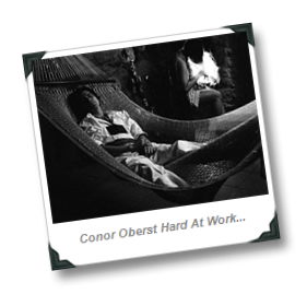 Conor Oberst Hard At Work