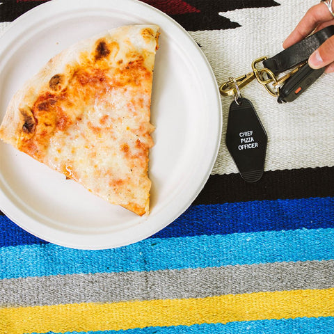 Chief Pizza Officer - Retro Key Tag - Keychain