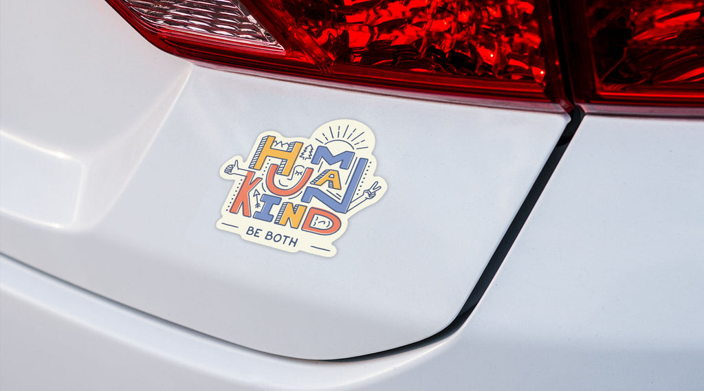 Human Kind Car Bumper Sticker