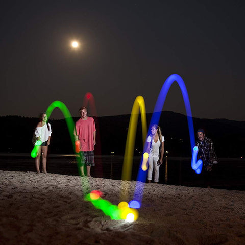 Portable Light Up Bocce Ball Glow In The Dark Game & Camping Fun