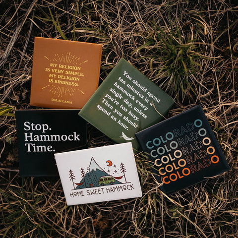 Magnets - Quotes Outdoors Nature Hammock Camping Van Life Gifts