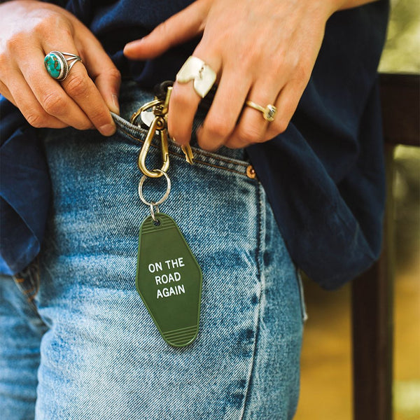 On The Road Again Key Tag - Gift For Mom & Dad