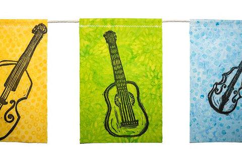 Modern Prayer Flags - Bluegrass Instruments - Great Gift
