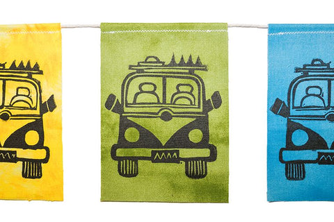Modern Prayer Flags - Bus Love - Van Life