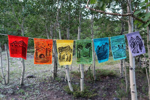Prayer Flags For Camping, Outdoors, Van Life & More