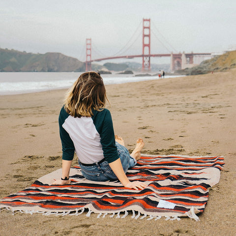 Redwood Adventure Cozy Yoga Blanket Fish Design For Camping