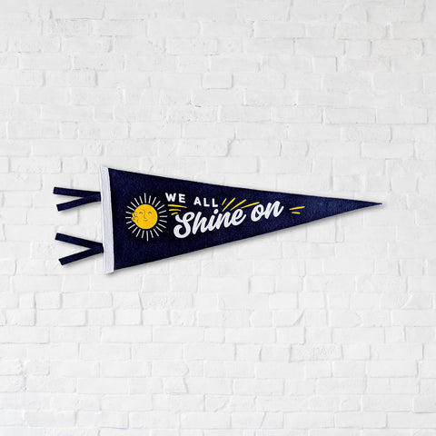 Shine On Wall Pennant For Your Home, Apartment or Dorm Room