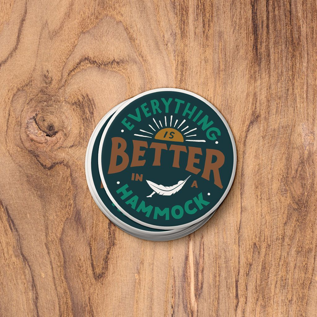 Everything Is Better In A Hammock Fridge Magnet