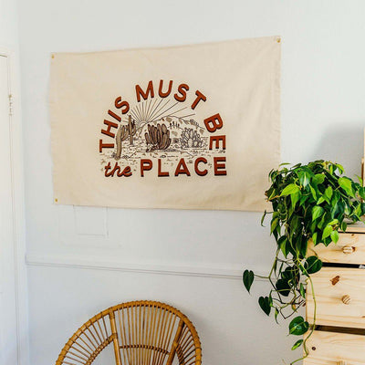 This Must Be The Place Canvas Flag