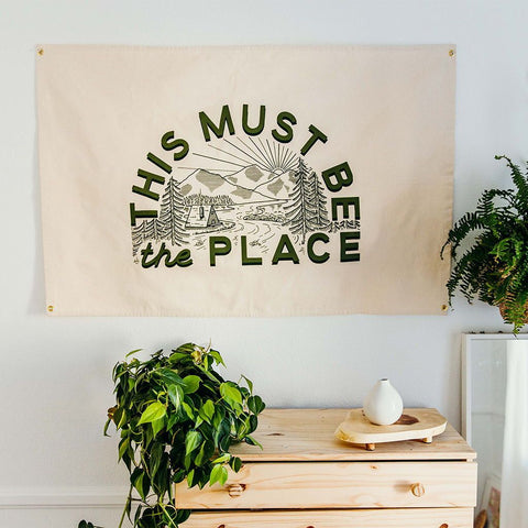 Canvas Wall Flag - This Must Be The Place