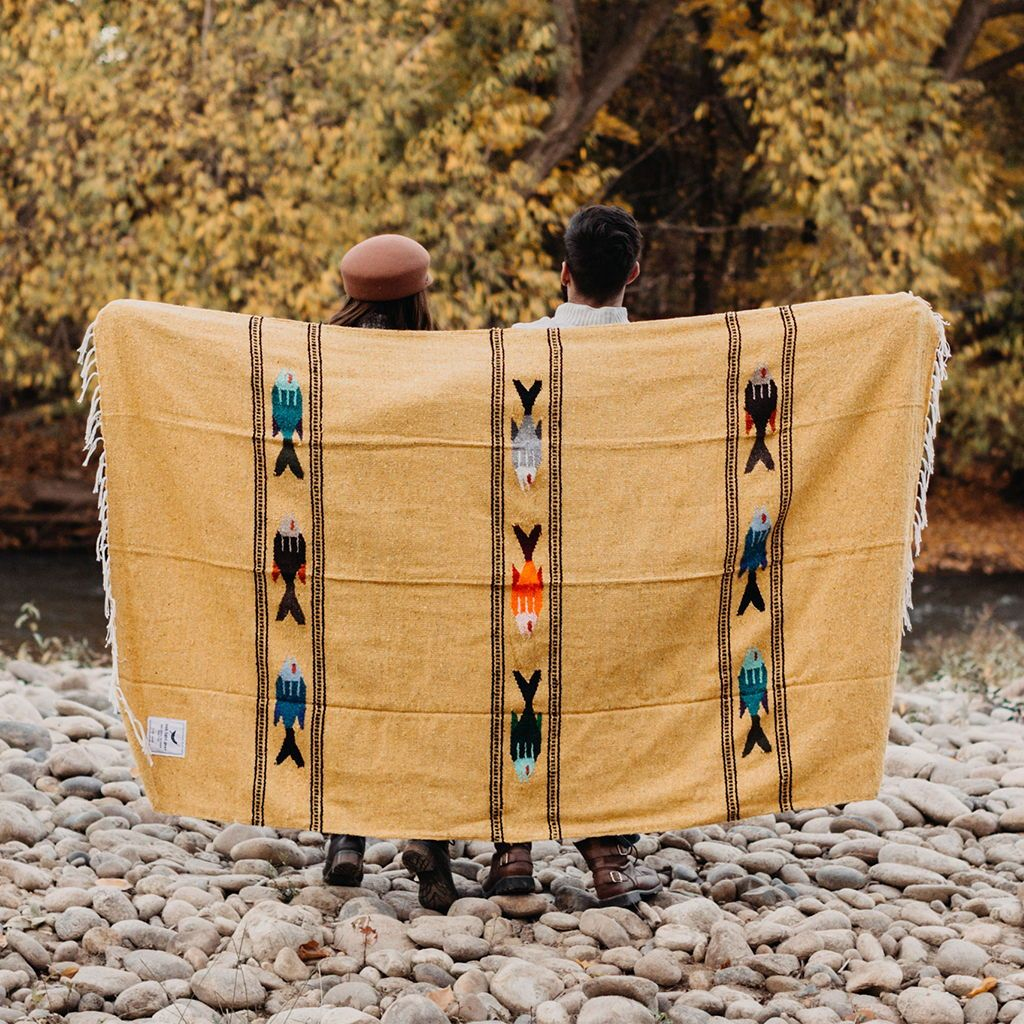 Golden Age - Fish Adventure Blanket - Yoga, Van Life, Picnic and Throw Blanket