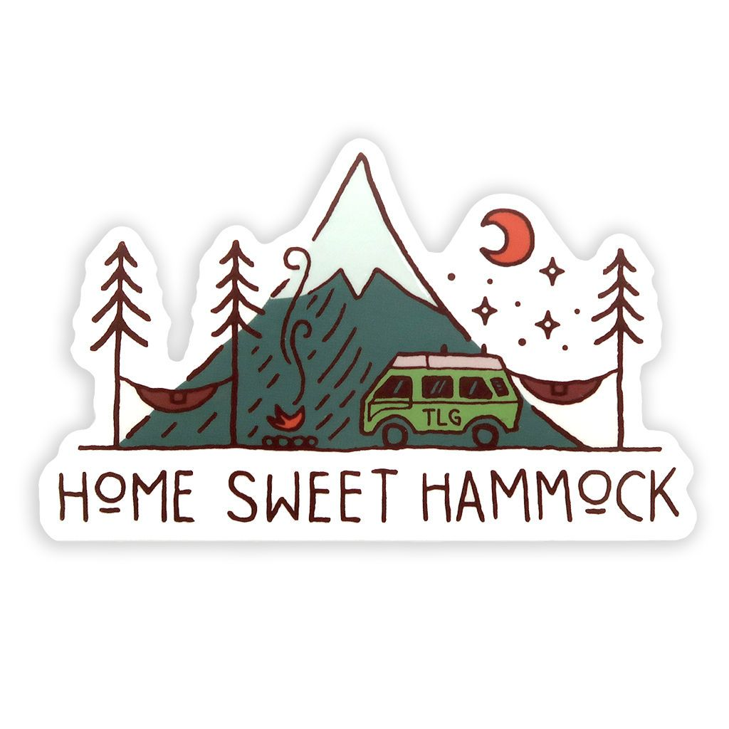 Home Sweet Hammock Sticker - Van Life, Camping Sticker David Rollyn
