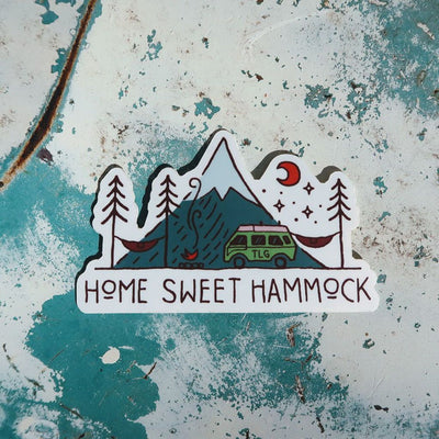 Hammock Sticker, Van Life Sticker, Camping Sticker - Home Sweet Hammock