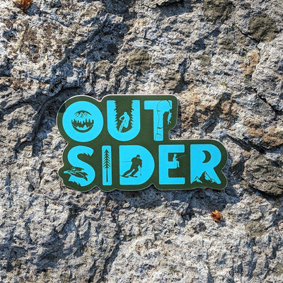 Outsider Sticker - Climbing, Biking, Camping, Hammock, Skiing, Fishing & Kayaking