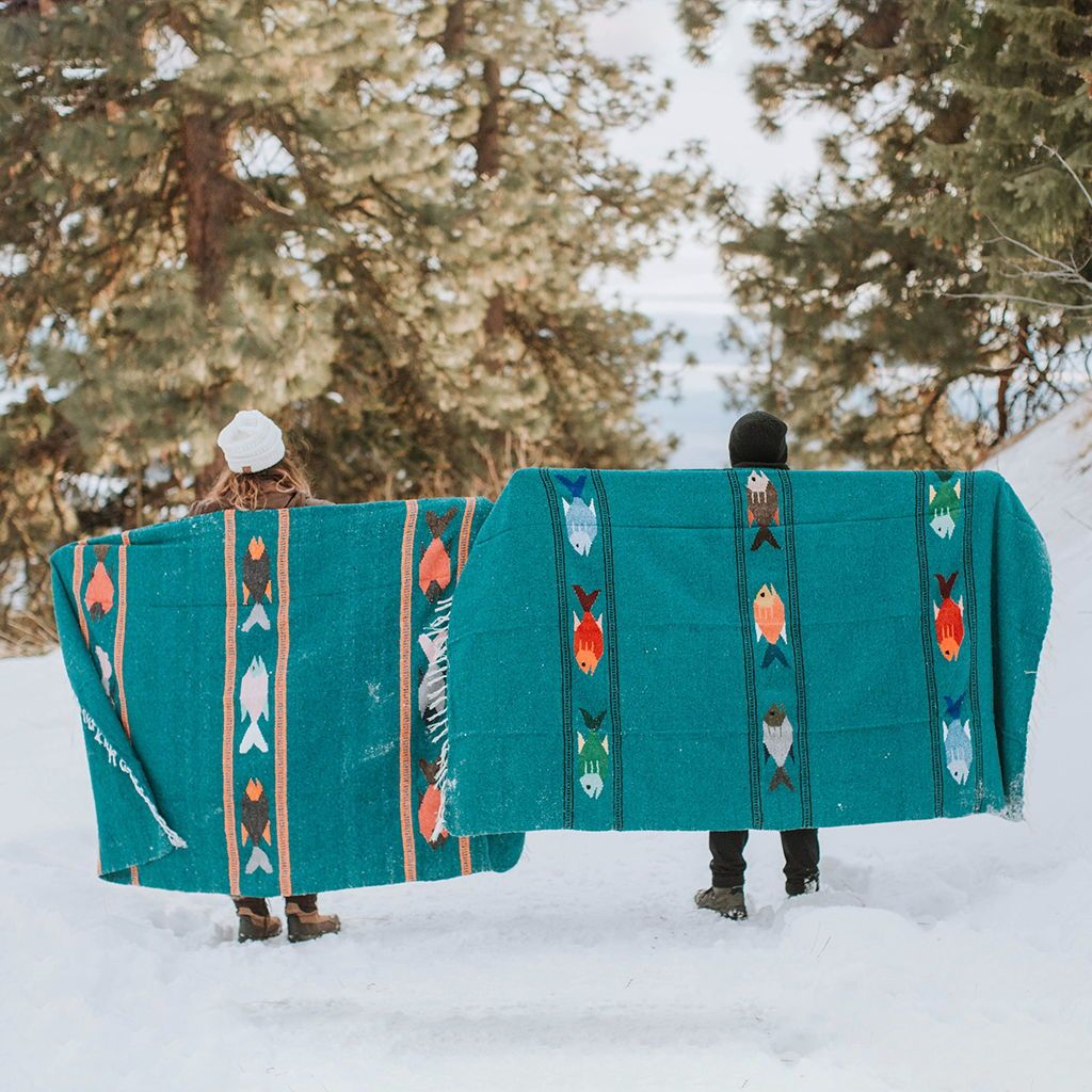 Reba Adventure Blanket Fish Design Yoga Camping Amp Van
