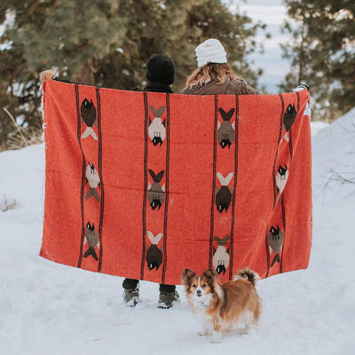 Runaway Jim Adventure Blanket - Yoga, Van Life, Picnic, Camping. Fish Design Mexican Blanket