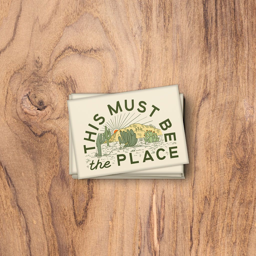 This Must Be The Place: The Desert. Fridge Magnet. Trek Light Gear
