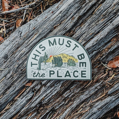 This Must Be The Place Sticker: The Desert