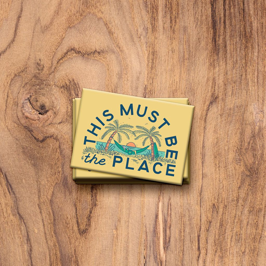 This Must Be The Place: The Beach. Fridge Magnet. Trek Light Gear