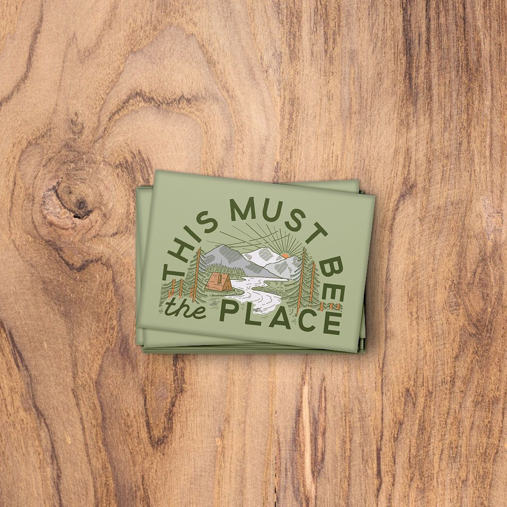 This Must Be The Place: The Mountains. Fridge Magnet. Trek Light Gear