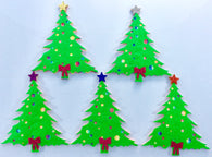 Five Little Christmas Trees