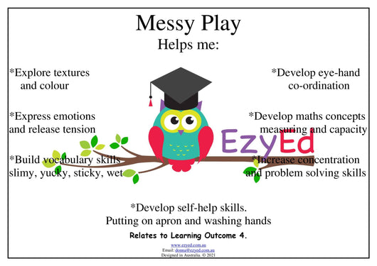Messy Play Digital Download Poster
