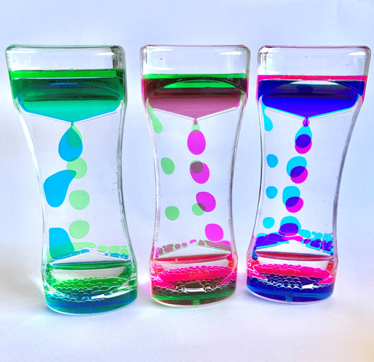 Sensory Bubble Liquid Timers Set of 3