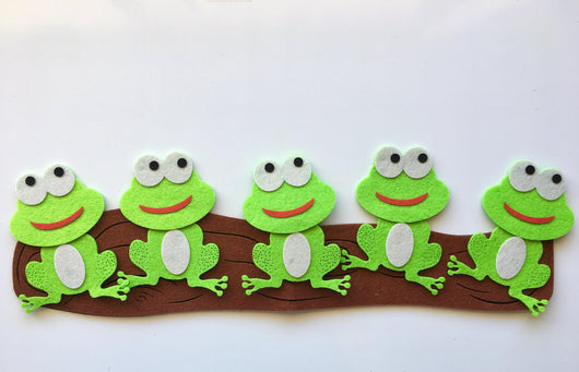 Five Green Speckled Frogs