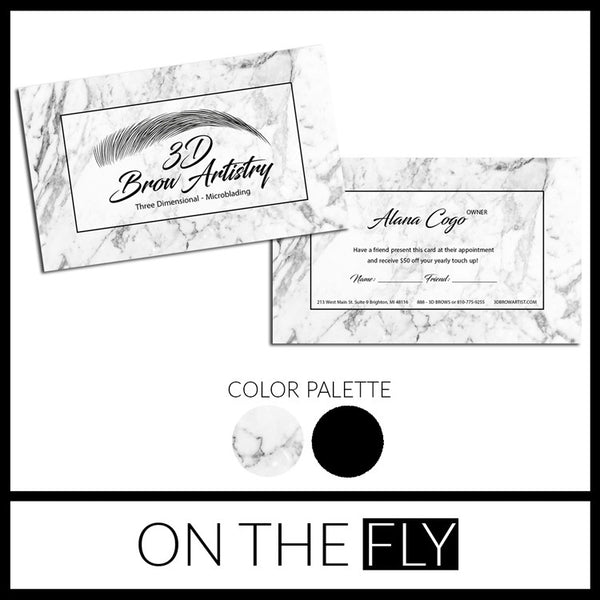 Marbled Business Card - On The Fly
