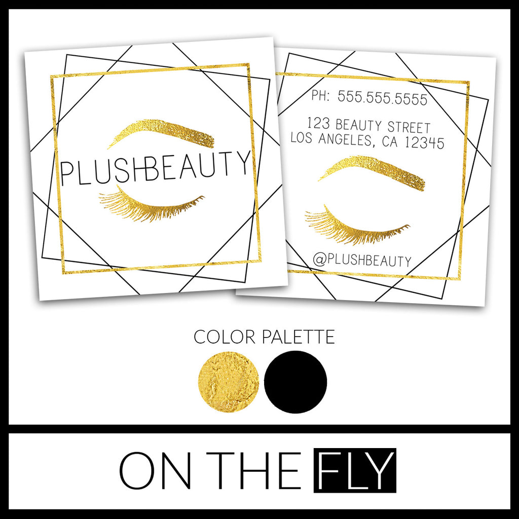 Plush Beauty Business Card - Purely 1:11