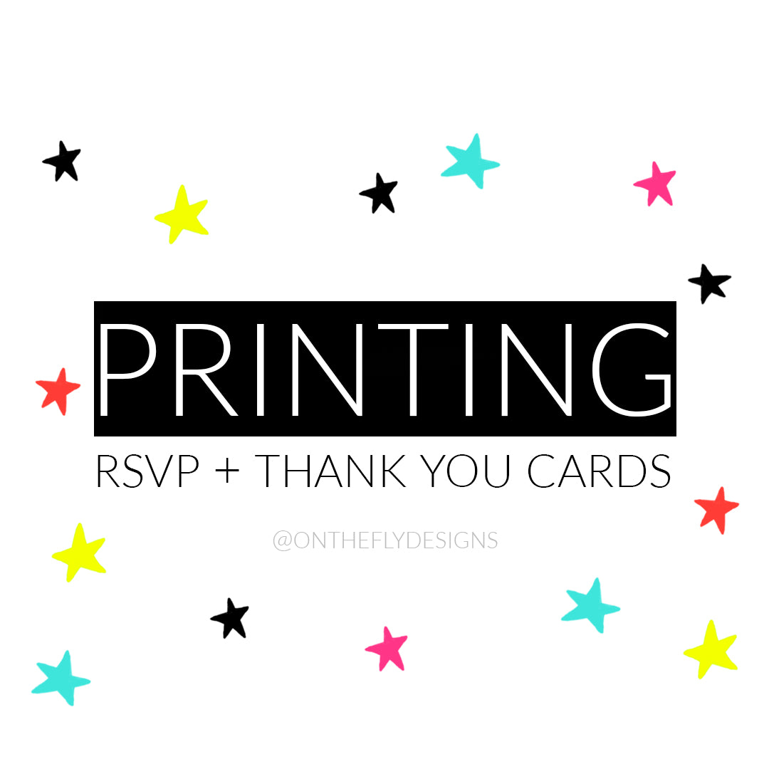 Printing for RSVP + Thank You Designs - Purely 1:11